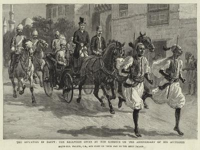 The Situation in Egypt, the Reception Given by the Khedive on the Anniversary of His Accession--Giclee Print