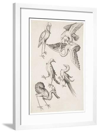 The Six of Birds, C.1463--Framed Giclee Print