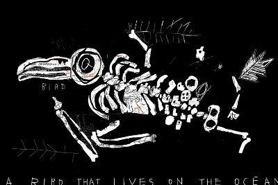 The Skeleton of a Bird Which Ate Plastic Waste and Died of Indigestion-Dmitriip-Art Print