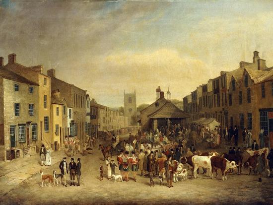 The Skipton Fair of 1830-Thomas Burras of Leeds-Giclee Print