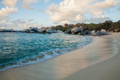 The Sky Reflected in the Wet Sand of 'The Baths' Beach on Virgin Gorda-Matt Propert-Photographic Print
