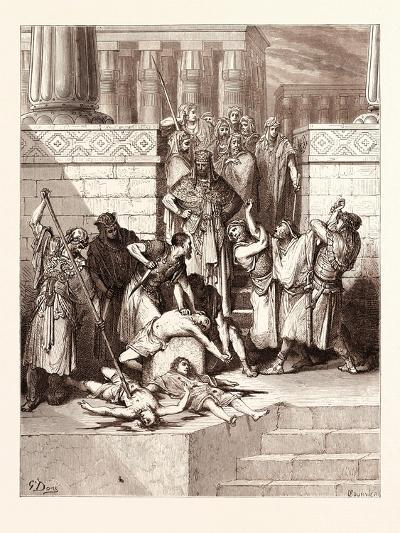 The Slaughter of the Sons of Zedekiah-Gustave Dore-Giclee Print