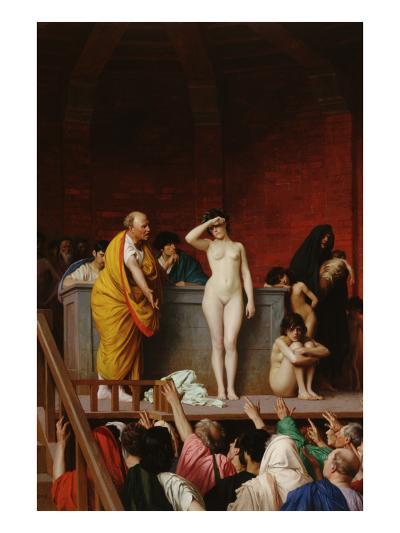 The Slave Market-Jean Leon Gerome-Art Print
