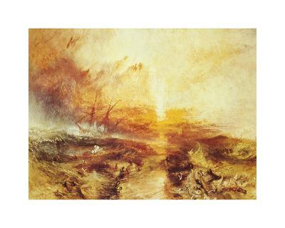 The Slave Ship-J^ M^ W^ Turner-Premium Giclee Print
