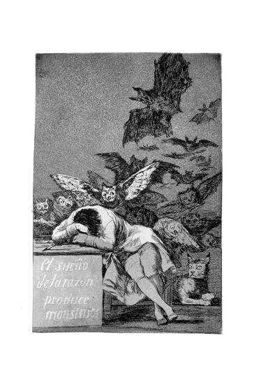 The Sleep of Reason Produces Monsters, 1799-Francisco de Goya-Giclee Print