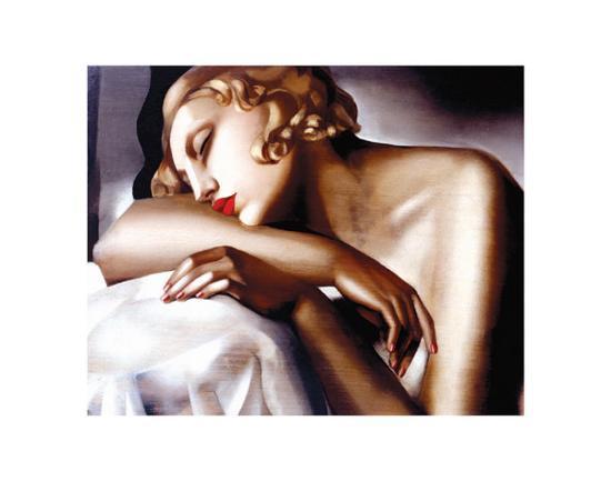The Sleeper-Tamara de Lempicka-Art Print