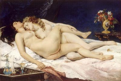 The Sleepers (Le Sommei)-Gustave Courbet-Giclee Print
