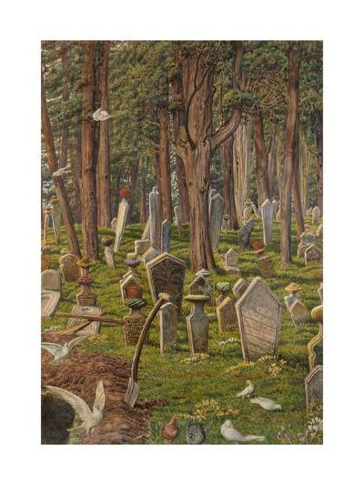 The Sleeping City: the Cemetery of Pera, Constantinople, 1856 - 1888-William Holman Hunt-Giclee Print