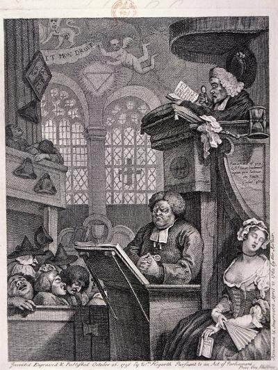 The Sleeping Congregation, 1762-William Hogarth-Giclee Print