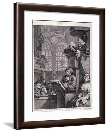 The Sleeping Congregation, 1762-William Hogarth-Framed Giclee Print