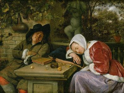 The Sleeping Couple, C.1658-60-Jan Havicksz^ Steen-Giclee Print