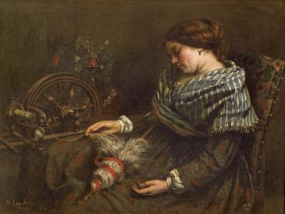 The Sleeping Embroiderer, 1853-Gustave Courbet-Giclee Print