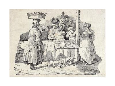 The Sleeping Fish Seller-Th?odore G?ricault-Giclee Print