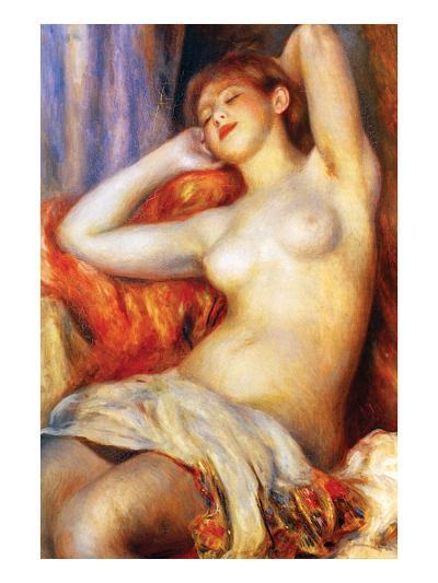 The Sleeping-Pierre-Auguste Renoir-Art Print