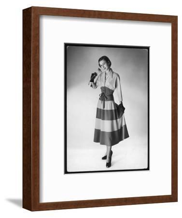The Sleeves are Cut with the Upper Bodice and Fitted to a Deep Waist Band--Framed Giclee Print