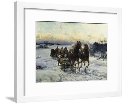 The Sleigh Ride-Alfred von Wierusz-Kowalski-Framed Giclee Print