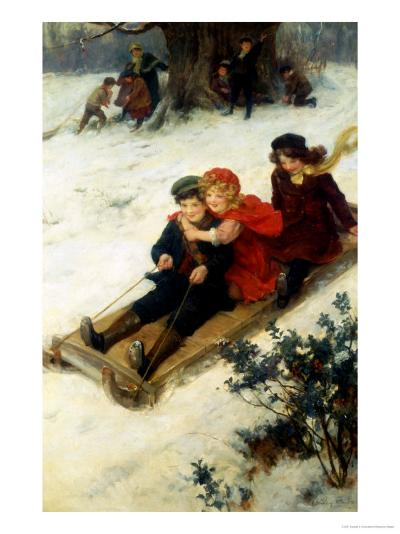 The Sleighride-George S. Knowles-Giclee Print