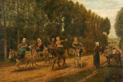 The Sluggard, Market Women, Brittany, France, 1876-Arthur Hughes-Giclee Print