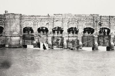 The Sluices on the Isonzo River at Sagrado During World War I-Ugo Ojetti-Photographic Print