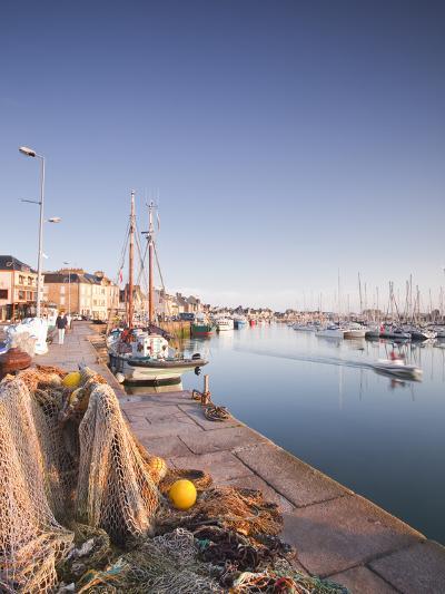 The Small Fishing Port of Saint Vaast La Hougue, Cotentin Peninsula, Normandy, France, Europe-Julian Elliott-Photographic Print