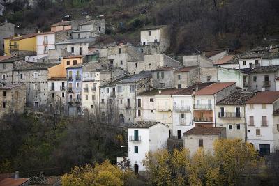 The Small Hillside Town of Prezza Near Pratola Peligna, Italy-Scott S^ Warren-Photographic Print