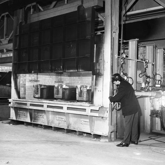The Small Ingot Furnace, Park Gate Iron and Steel Co, Rotherham, South Yorkshire, 1964-Michael Walters-Photographic Print