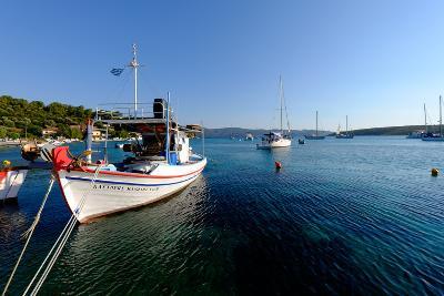 The Small Port and Beach of Posidonio, Samos Island, North Aegean Islands, Greek Islands, Greece-Carlo Morucchio-Photographic Print