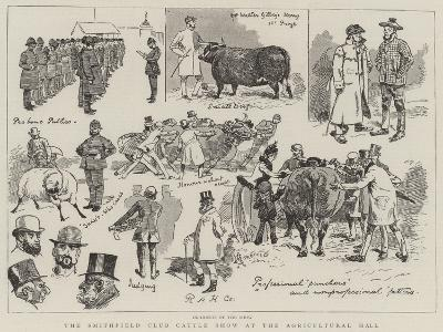 The Smithfield Club Cattle Show at the Agricultural Hall-Alfred Chantrey Corbould-Giclee Print