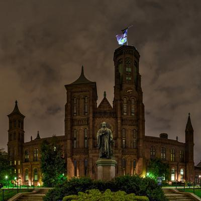 The Smithsonian Institution and Museum at Night-Babak Tafreshi-Photographic Print