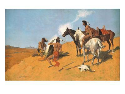 The Smoke Signal-Frederic Sackrider Remington-Premium Giclee Print