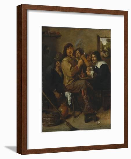 The Smokers, c.1636-Adriaen Brouwer-Framed Giclee Print