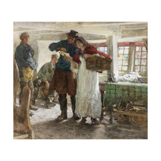 The Smugglers' News-Edgar Bundy-Giclee Print