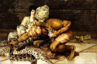 The Snake Charmer, 1884-Eugene Pavy-Giclee Print