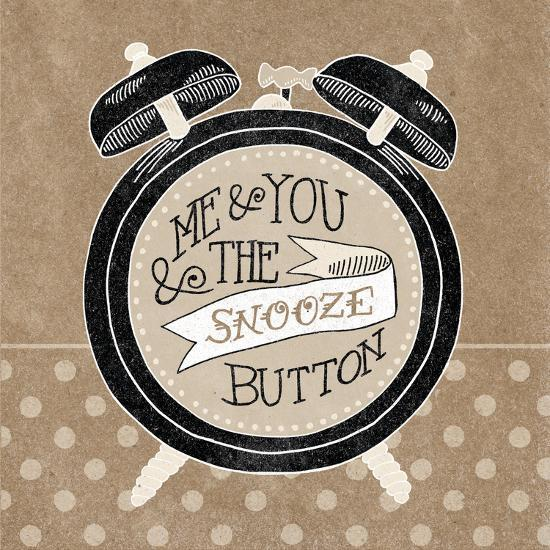 The Snooze Button Taupe-Mary Urban-Art Print