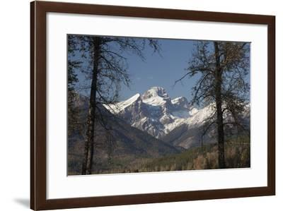 The Snow Covered Three Sisters Rise Above Forests in Fall Color-Matthias Breiter-Framed Photographic Print