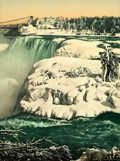 The Snow on the River Niagara--Photographic Print