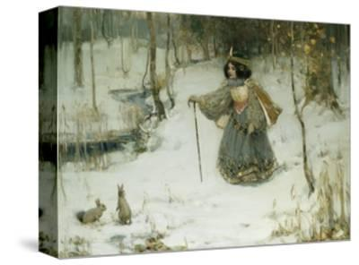 The Snow Queen-Thomas Bromley Blacklock-Stretched Canvas Print