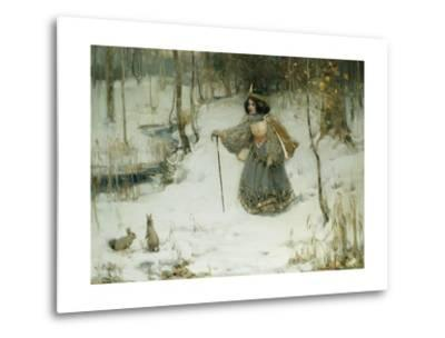 The Snow Queen-Thomas Bromley Blacklock-Metal Print