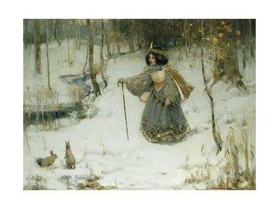 The Snow Queen-Thomas Bromley Blacklock-Giclee Print
