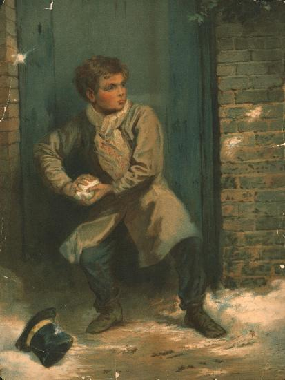 'The Snowballer', 19th century-Unknown-Giclee Print