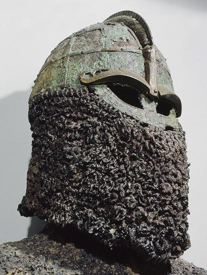 The so-called 'Sigurd's Helmet', pre-Viking, Sweden, c7th century-Werner Forman-Photographic Print