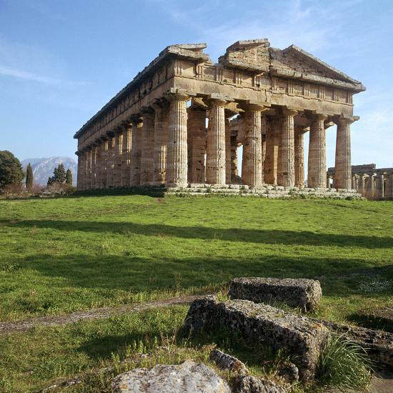 The So-Called Temple of Neptune at Paestum, 5th Century Bc-CM Dixon-Photographic Print