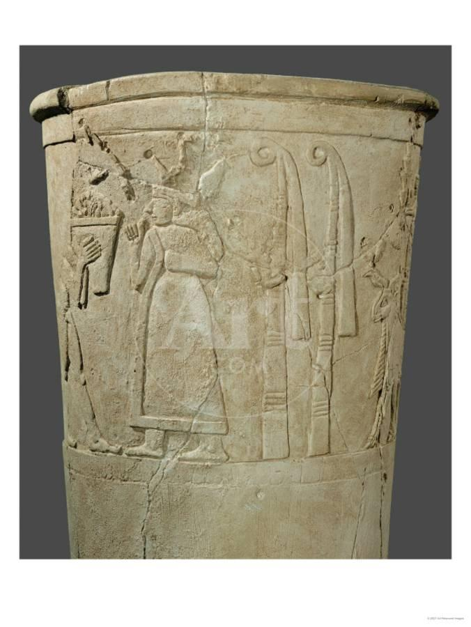 The So Called Warka Vase Goddess Inanna Innin Behind Her Symbols