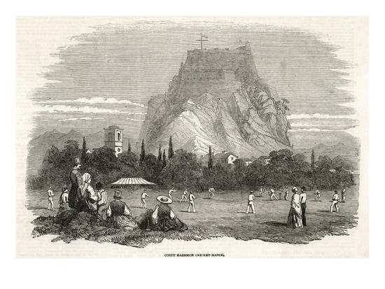 The Soldiers Stationed at the Garrison on Corfu Play a Cricket Match--Giclee Print