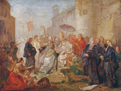 The Solemn Entry of Monseigneur Nicolas-Joseph De Paris as Bishop of Orleans in 734, 1745-Charles Joseph Natoire-Giclee Print