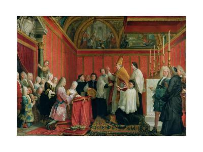 The Solemnization of the Marriage of Prince James Francis Edward Stuart (1688-1766) and Princess Ma-Agostino Masucci-Giclee Print
