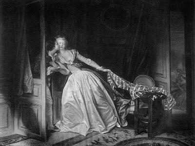 The Solen Kiss, Late 18th Century-Jean-Honore Fragonard-Giclee Print