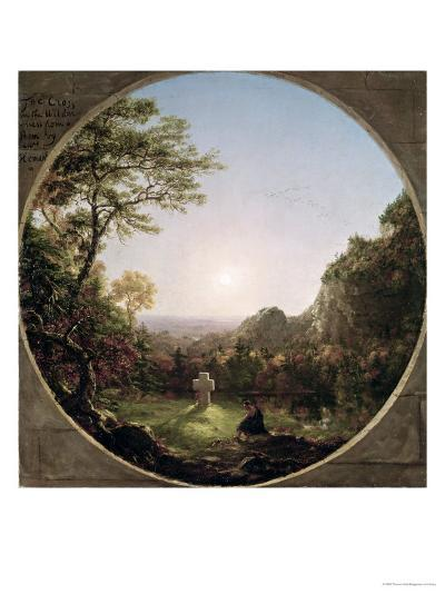 The Solitary Cross, 1845-Thomas Cole-Giclee Print