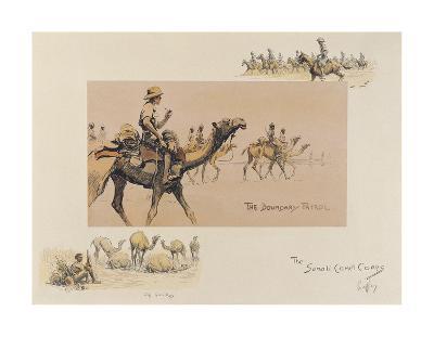 The Somali Camel Corps-Snaffles-Premium Giclee Print