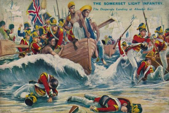 'The Somerset Light Infantry. The Desperate Landing at Aboukir Bay', 1801, (1939)-Unknown-Giclee Print